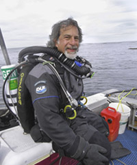 Marc Shargel, prepared to photograph marine life.