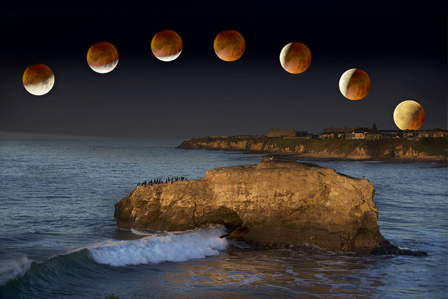 Lunar Eclipse time-series composite.